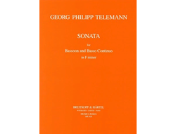 Telemann, Georg Philipp Sonata f minor : for bassoon and piano