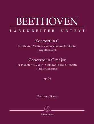 "Beethoven, Concerto for Pianoforte, Violin, Violoncello and Orchestra C major op. 56 ""Triple Concerto"" Score"