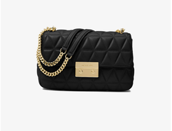 СУМКА MICHAEL KORS SLOAN EDITOR QUILTED-LEATHER черная