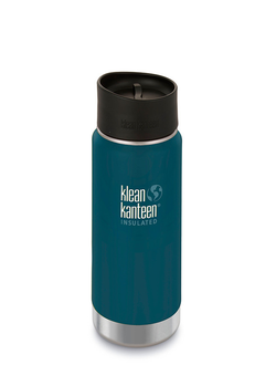 Термобутылка Klean Kanteen Insulated Wide 16oz (473 мл) Neptune Blue матовая