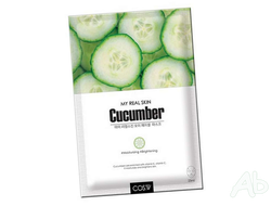 Маска тканевая COS.W My Real Skin Cucumber Facial Mask с экстрактом огурца