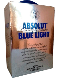 Водка Абсолют Блю Лайт 3л ( Absolut Blue Light 3L) 40% 37,5%