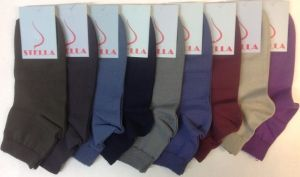 Стелла носки женские укороченные хлопок с лайкрой с-420 ассорти темные, 10 пар (1 упаковка)