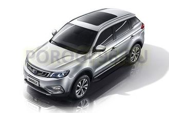 Пороги на Geely Atlas (2018-…) Optima Black