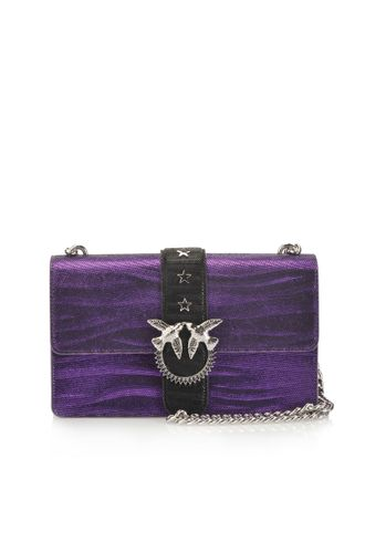 LOVE BAG ZEBRA METAL IN PELLE STAMPA ZEBRA METALLIZZATA