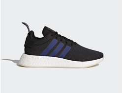 Adidas NMD R2 Black/Blue черно-синие