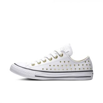 Кеды Chuck Converse Taylor All Star Leather Stud Low-Top Кожаные Белые