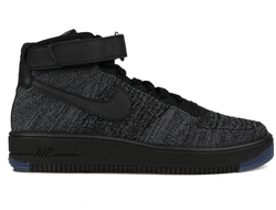 Nike Air Force Mid Flyknite Black (40-45) Арт. 014F
