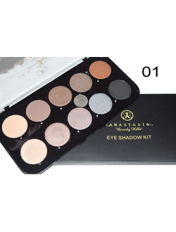 "Тени Anastasia Beverly Hills "" EYE Shadow Kit"",  10 цветов в палитре"