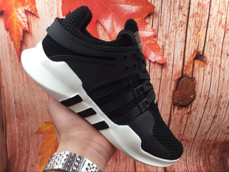 Adidas EQT Support ADV Black/White черно-белые