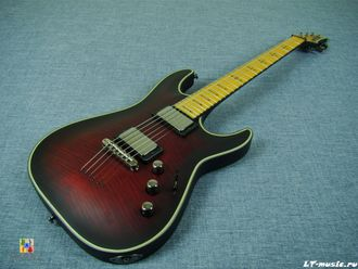 Schecter Hellraiser C-1 Maple Crimson Red Satin EMG