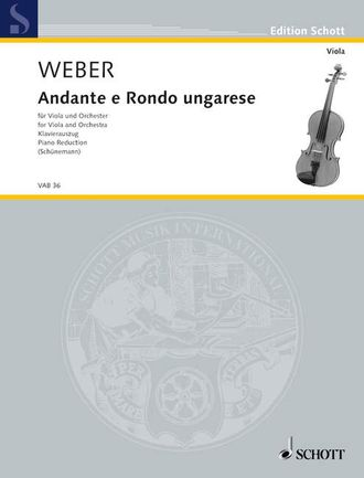 Weber Andante and Rondo ungarese fur Viola und Orchester (Piano Reduction)