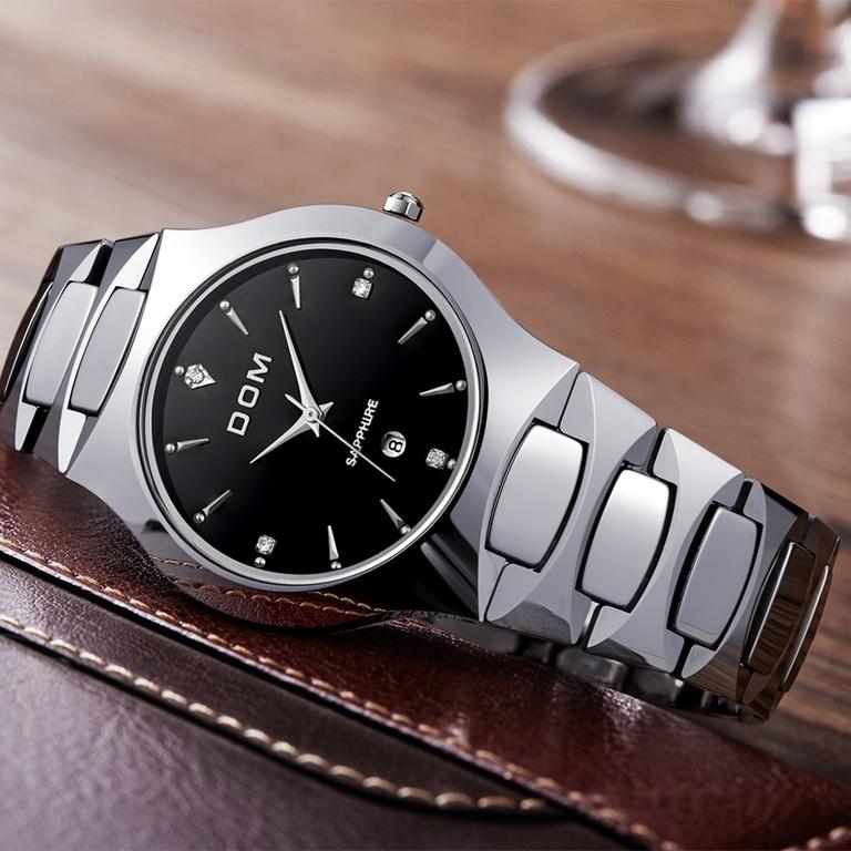 DOM Часы мужские модные водонепроницаемые из вольфрама 808d37aa3c05d