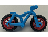 Bicycle Heavy Mountain Bike with Red Wheels, Dark Azure (36934c03)