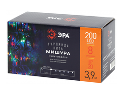 ЭРА Гирлянда-нить Мишура 200LED разноцв. 2,4м., бел.1.5м, 8реж. IP20 ENIN - WM 8341 lБ0047972