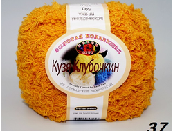 Пряжа Кузя Клубочкин от Color City, цвет 37, горчица, 100 гр