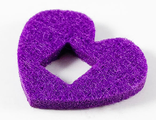 Felt Fabric 4 x 3 Heart Thick with Square Hole, Dark Purple (66826 / 6290359)