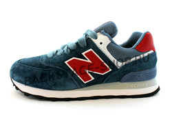 Кроссовки New Balance 574 Blue/ Red Encap