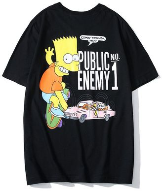 Футболка Off White Bart Simpson черная