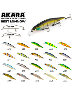 Воблер Akara Best Minnow 110SP 17 гр. А23