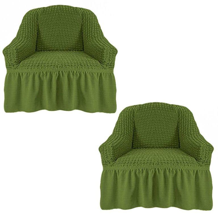 Чехлы на 2 кресла, Изумруд 222