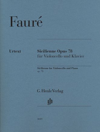 Faure Sicilienne op. 78 for cello and piano