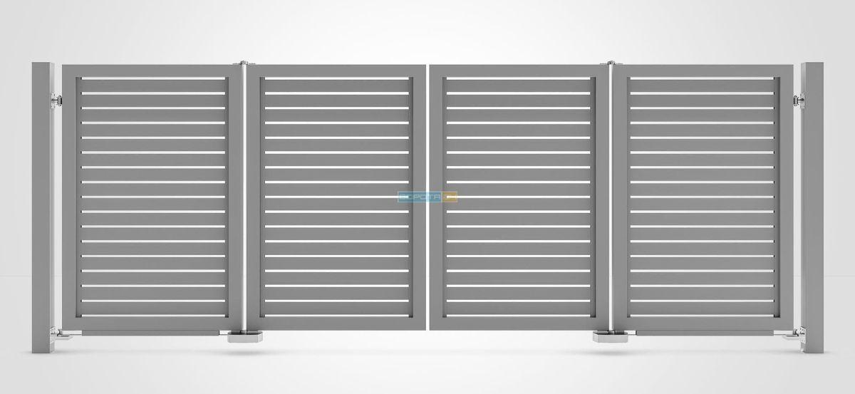 современные ворота типа гармошка-складные конструкции
