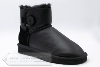Угги UGG Australia Mini Bailey Button Metallic Black женские арт. U69