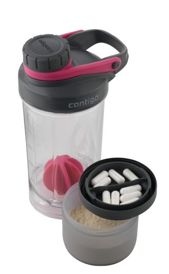 Фитнес-бутылка Contigo Shake & Go FIT + compartment 650 ml