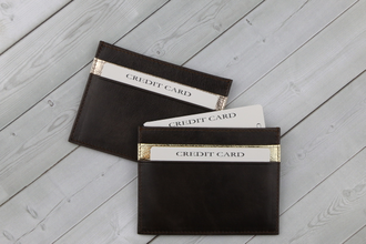 Кардхолдер QOPER Credit card holder brown