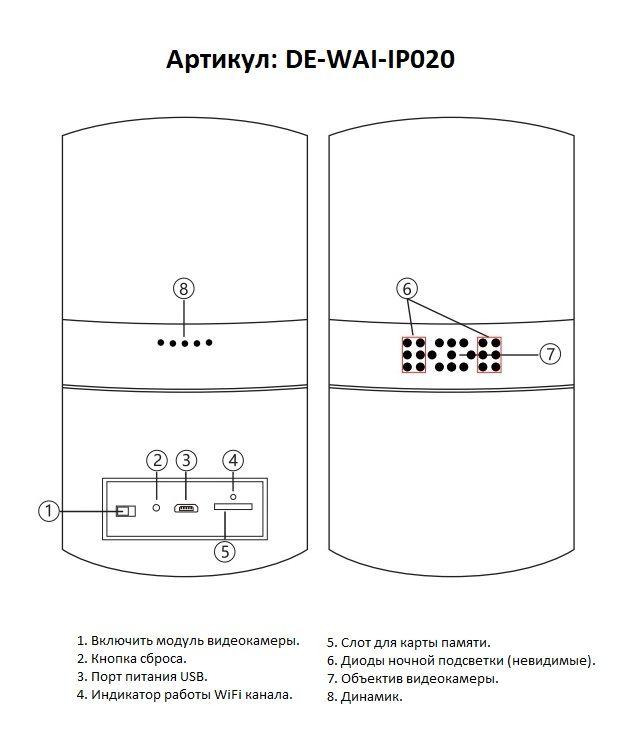 Мотризированная IP видеоняня WiFi (Настольная лампа с димированием света и выбором цвета подсветки)