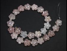 Бусина Розовый кварц, цветок 15*15*6 мм, Бразилия (1 шт) №18936