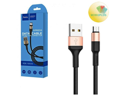 Кабель Hoco X26 Xpress Data Cable Micro USB 1м Black&Gold