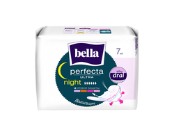 Ночные прокладки Bella Perfecta Ultra Night Silky Drai, 7 шт.