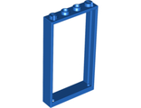 Door, Frame 1 x 4 x 6 with Two Holes on Top and Bottom, Blue (60596 / 6055101 / 6262960)