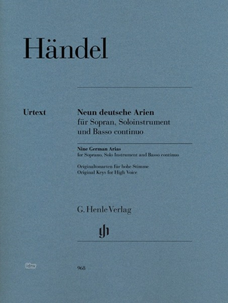 Handel: Nine German Arias for Soprano, Solo Instrument and Basso continuo