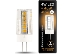 Gauss LED T10 4w 827/840 12v G4