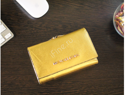 КОШЕЛЕК MICHAEL KORS Metallic Saffiano GOLD