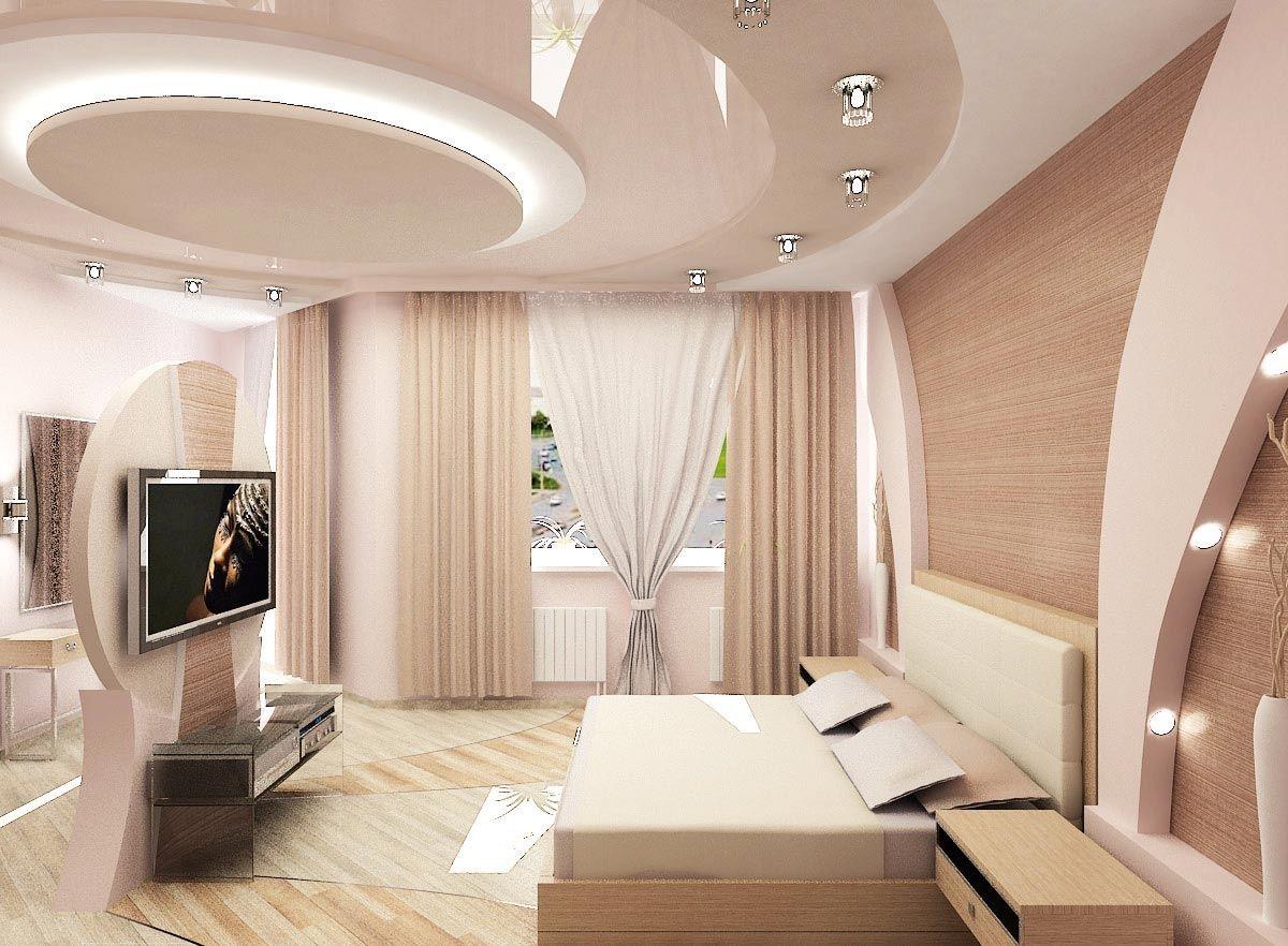 дизайн потолка из гипсокартона комнаты
