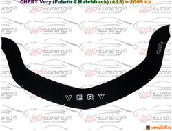 CHERY Very (Fulwin 2 hatchback) (A13) 2009 дефлектор капота