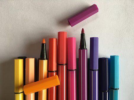 фломастеры  разных цветов