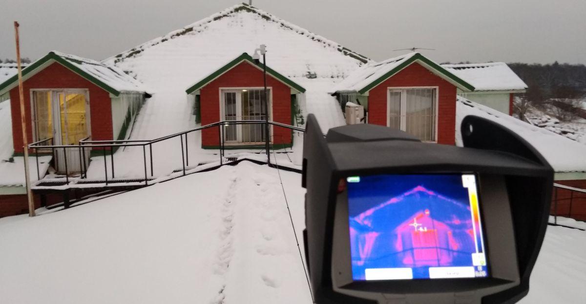 Фото с тепловизора дома