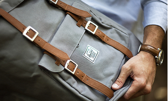 Рюкзак Herschel Little America Grey/Tan Synthetic Leather