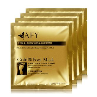 Носочки для пилинга ног,AFY,GOLD FOOT MASK