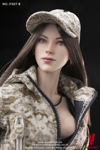 ТЕЛО И ГОЛОВА 1/6 Supermodel Head Sculpt + Female Body Set (FX07 B) - VERYCOOL