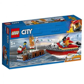 LEGO City Fire Конструктор Пожар в порту, 60213