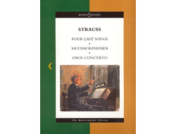 Strauss, Richard 4 last songs, Metamorphosen and oboe concerto score