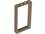 Door, Frame 1 x 4 x 6 with Two Holes on Top and Bottom, Dark Tan (60596 / 6188109 / 6262970)