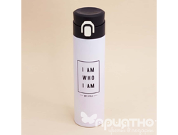 "Термос ""I AM WHO I AM"", white (350ml)"