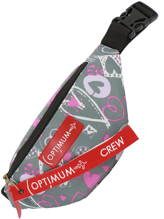 Сумка на пояс Optimum Mini Print RL, сердца